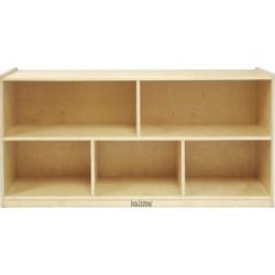 Kids' 5 Compartment Storage Cabinet 24 – ECR4Kids, Wood