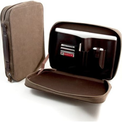 Ultrasuede Computer Carrying Case, Multicolor