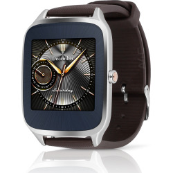 Asus ZenWatch 2 Silver Case w/ Rubber Band – Brown (Used)