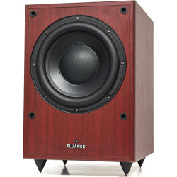 Fluance DB150 10 inch 150 Watt Low Frequency Powered Subwoofer-Mahogany