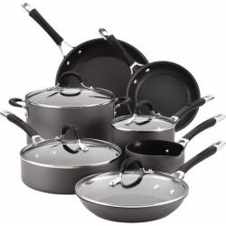 Circulon Momentum 11-pc. Nonstick Hard-Anodized Cookware Set, Black