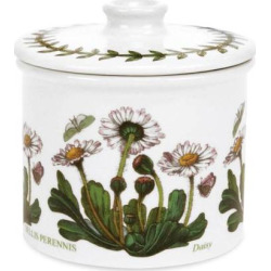 Portmeirion Botanic Garden Covered Sugar Bowl, White