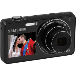 Samsung ST700 DualView 16.1 Megapixels Digital Camera – Black (Refurbished)