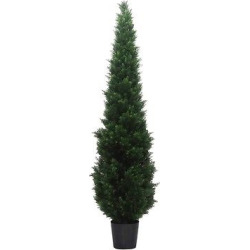 Artificial Cedar Tree In Pot (UV) (8ft) Green – Vickerman