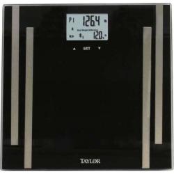 Taylor Wireless Bluetooth Digital Bathroom Scale, Black