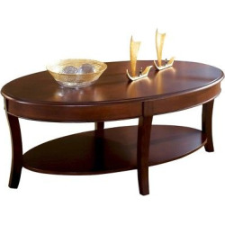 Tabor Cocktail Table Brown – Steve Silver Co., Brown Sugar