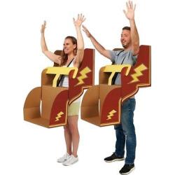 Adult Roller Coaster Diy 2pk Cardboard Couple Costume Kit, Multi-Colored
