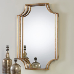 Lindee Geometric Open Frame Wall Mirror, Multicolor