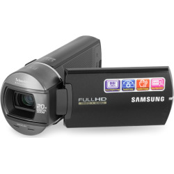 Samsung HMX-Q10BN/XAA Compact Full HD Camcorder – Black (Refurbished)