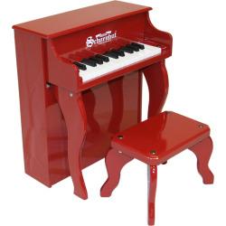 Schoenhut 25-Key Elite Spinet Toy Piano, Red