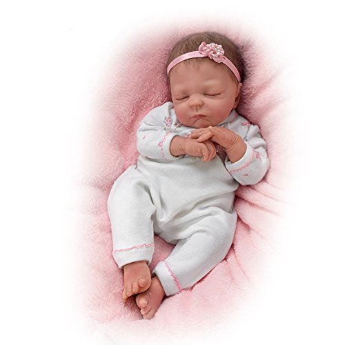 Cuddle Caitlyn With Warming Feature and Blanket – So Truly Real® Lifelike & Realistic Newborn Baby Doll 17-inches  by The Ashton-Drake Galleries