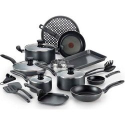 Simply Cook Nonstick Dishwasher Safe Cookware 20 Pc Set Black, Grey