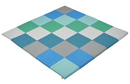 ECR4Kids Softzone Patchwork Toddler Foam Play Mat, 58″ Square, Contemporary