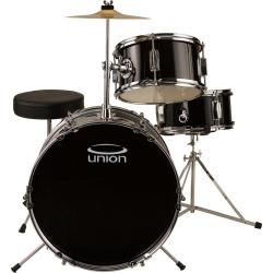 Union Junior 3-pc. Drum Set, Black