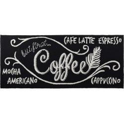 """Liora Manne Frontporch """"Coffee"""" Indoor Outdoor Rug – 24″ x 60″, Black"""