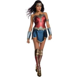 Wonder Woman Movie Adult Costume and Wig Kit-X-Small, Size: XS, Multicolored