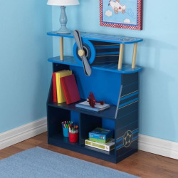KidKraft Airplane Bookcase, Multicolor