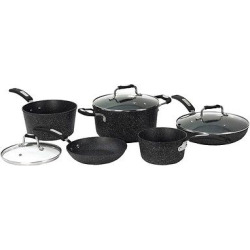 The Rock 8 Pcs Set with Bakelite(r) Handles, Almost Black
