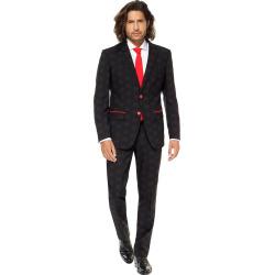 Men's OppoSuits Slim-Fit Star Wars Darth Vader Novelty Suit & Tie Set, Size: 40 – regular, Black