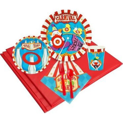 24ct Carnival Games Party Pk, Multicolored