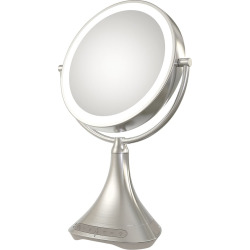 iHome 7X Double-Sided Vanity Mirror with Bluetooth Speaker, Multicolor