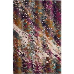 3'3X5′ Loomed Accent Rug Cream/Magenta (Ivory/Pink) Abstract – Safavieh