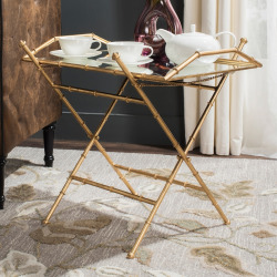 Safavieh Misae Removable Serving Tray Table, Gold