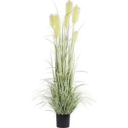 Artificial Reed Grass w/Black Pot (6′) Green – Vickerman