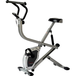 Sunny Health & Fitness Dual Action Rider Bike, Grey