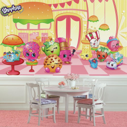 RoomMates Shopkins XL Chair Rail Wall Mural, Multicolor