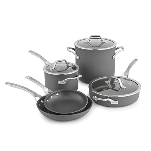 Calphalon Signature Hard Anodized Nonstick Cookware Set, 8-piece, Grey (1948247)
