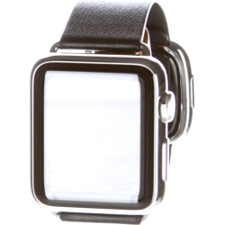 Apple Watch 38MM Stainless Steel Case w/ Modern Buckle Band – Black (Refurbished)