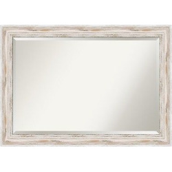 Wall Mirror Extra Large (41″ x 29″) Alexandria White wash