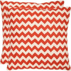 Chevron Tealea 2-piece 18″ x 18″ Throw Pillow Set, Orange