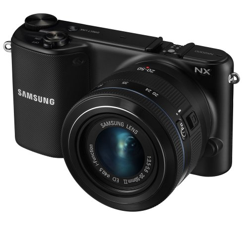 Samsung NX2000 20.3MP CMOS Smart WiFi Mirrorless Digital Camera with 20-50mm Lens and 3.7″ Touch Screen LCD (Black) (OLD MODEL)