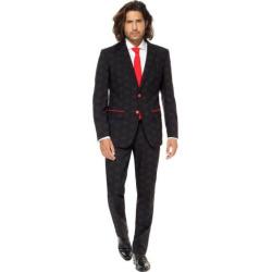 Men's OppoSuits Slim-Fit Star Wars Darth Vader Novelty Suit & Tie Set, Size: 38 – regular, Black