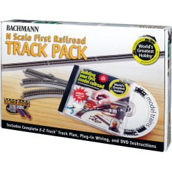 Bachmann N Scale First Railroad Track Pack, Multicolor