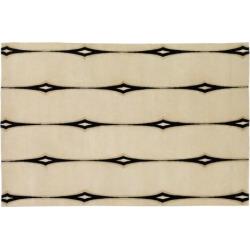 Surya Luminous Striped Rug – 5′ x 8′, White