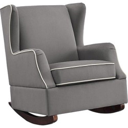 Hudson Wingback Rocker – Graphite Gray – Gray – Baby Relax