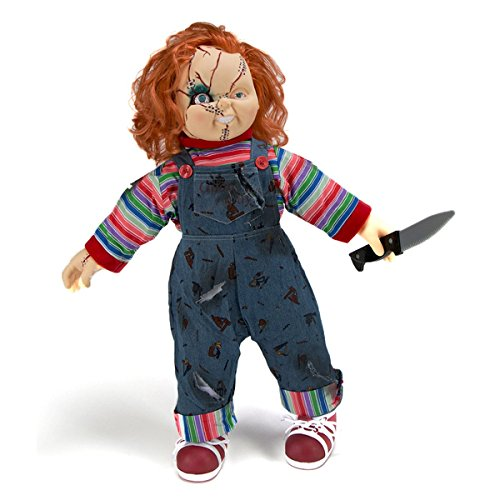 Universal Bride of Chucky Collector's Memorabilia: 26″ Child's Play Chucky Doll & Stand