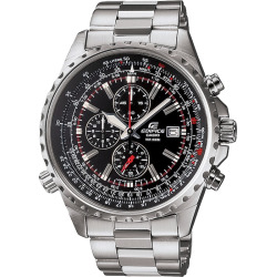 Casio Men's Edifice Stainless Steel Flight Computer Chronograph Watch – EF527D-1AV, Grey