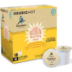 Keurig K-Cup Pod Caribou Coffee Daybreak Morning Blend Light Roast Coffee – 108-pk, Multicolor