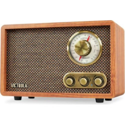 victrola retro wood bluetooth fmam radio with rotary dial brown - Allshopathome-Best Price Comparison Website,Compare Prices & Save