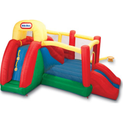 Little Tikes Double Fun Slide 'n Bounce Bouncer, Multicolor