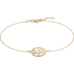 "14k Gold Tree of Life Bracelet, Women's, Size: 7.5"", Yellow"