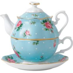 royal albert tea for one 3 pc tea set blue - Allshopathome-Best Price Comparison Website,Compare Prices & Save