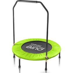 Pure Fitness 40-Inch Mini Trampoline with Handrail Rebounder, Multicolor