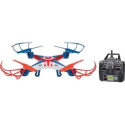 Marvel Captain America 2.4GHz 4.5CH RC Sky Hero Drone by World Tech Toys, Multicolor