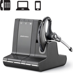 Plantronics Savi W730 Over-the-Ear Monaural Wireless Headset
