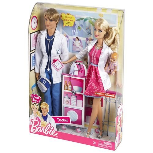Barbie I Can Be Doctors Barbie and Ken Dolls Exclusive